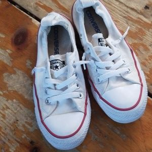 Pull on white Converse
